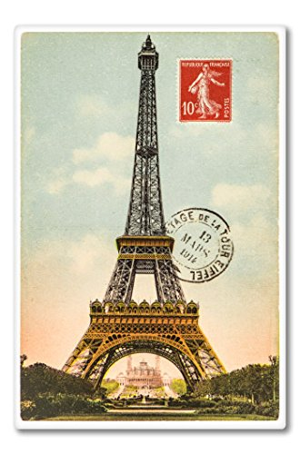Paris Stamp Vinyl Sticker - Car Phone Helmet - SELECT SIZE