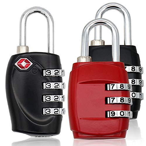 3pcs MIONI TSA Luggage Locks with 4 Digit Combination – He