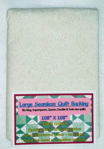 Quilt Backing, Large, Seamless, White/Cream, C49638-201 ()