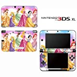 Princess Friends Sparkle Belle Rapunzel Tiana Decorative Video Game Decal Cover Skin Protector for Nintendo 3DS XL