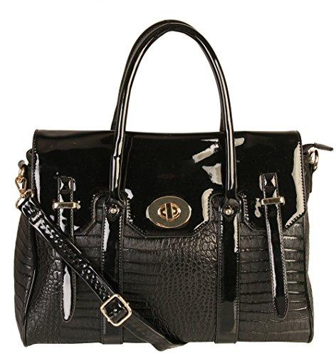 rimen-co-bayswater-crocodile-animal-print-tote-satchel-large-purse-women-handbag-accented-top-handle