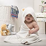 Organic Bamboo Hooded Baby Towel with Super Cute Ears...