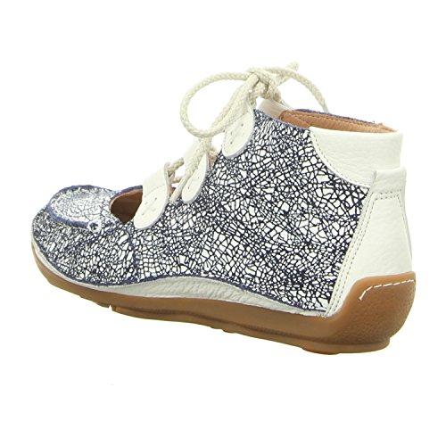 Softwaves Mujeres Zapatos con cordones azul, (blau-kombi) 6.94.21 azul y blanco