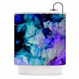 KESS InHouse Claire Day ''Lakia'' Blue Purple Shower Curtain, 69 by 70-Inch