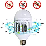 Dual LED Bulb and Bug Light Zapper 2-in-1 Ultimate Mosquito Killer and Led Bulbs Flying Insect Killer Mosquito Killer Lamp Night Lamp Pest Repellents Pest Control Baits and Lures Bug Zappers