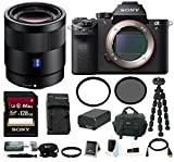 Sony Alpha a7RII Mirrorless Digital Camera Body with 55mm F1.8 ZA Lens Bundle
