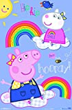 "Trends International Peppa Pig - Hooray Wall Poster, 22.375"" x 34"", Multi"