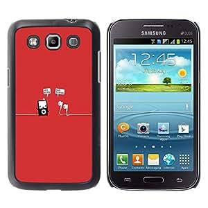 YOYOYO Smartphone Protección Defender Duro Negro Funda Imagen Diseño Carcasa Tapa Case Skin Cover Para Samsung Galaxy Win I8550 I8552 Grand Quattro - reproductor de mp3 de música minimalista rojo divertido