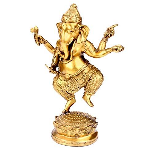 Latón Estatua de elefante de éxito dios Ganesha Estatua elefante cifras Señor Chaturbhuja Ganesh Ganpati hecho a mano...
