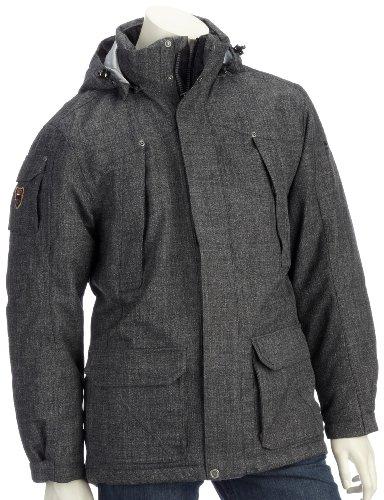 Northland Herren Parka Exo Tweed Tom Parka, black tweed