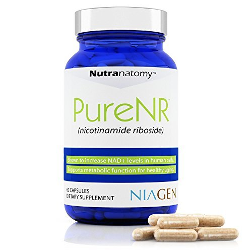 Nutranatomy- Nicotinamide Riboside Supplement with ChromaDex Niagen 125 mg per Capsule, 60 Capsules per Bottle (60 IPQ)