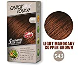 Quick Touch'5 - Minute' Hair Color - 543 Light Mahogany Copper Brown ~ Permanent Hair dye
