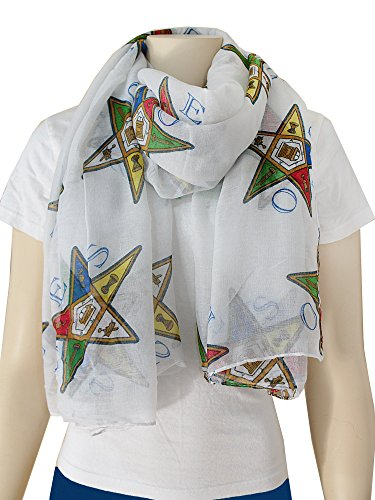 Order of the Eastern Star Oversized Viscose Scarf, 36x72 Inches