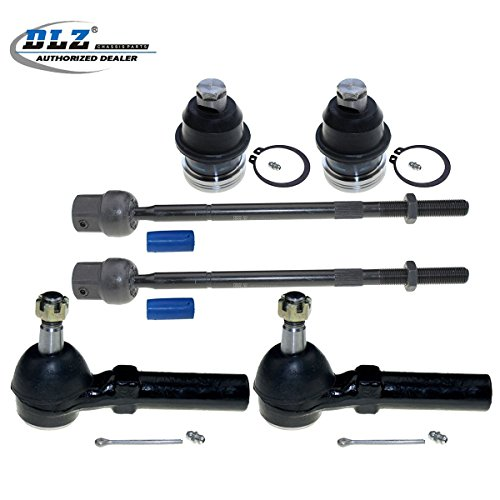 DLZ 6 Pcs Front Suspension Kit-2 Inner 2 Outer Tie Rod End 2 Lower Ball Joint Compatible with 1991-1995 Dodge Caravan/Grand Caravan/Dodge Spirit, 1991-1993 Dodge Daytona 1991-1994 Dodge Shadow EV128