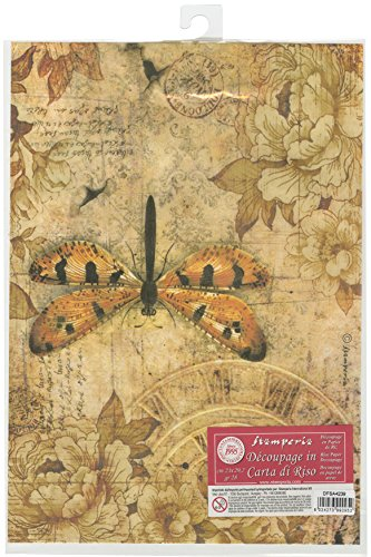 - Stamperia Rice Paper Sheet A4-Mixed Media Dragonfly