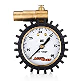 Accu-Gage Presta Valve MTB CX Tire Pressure Gauge, 60psi