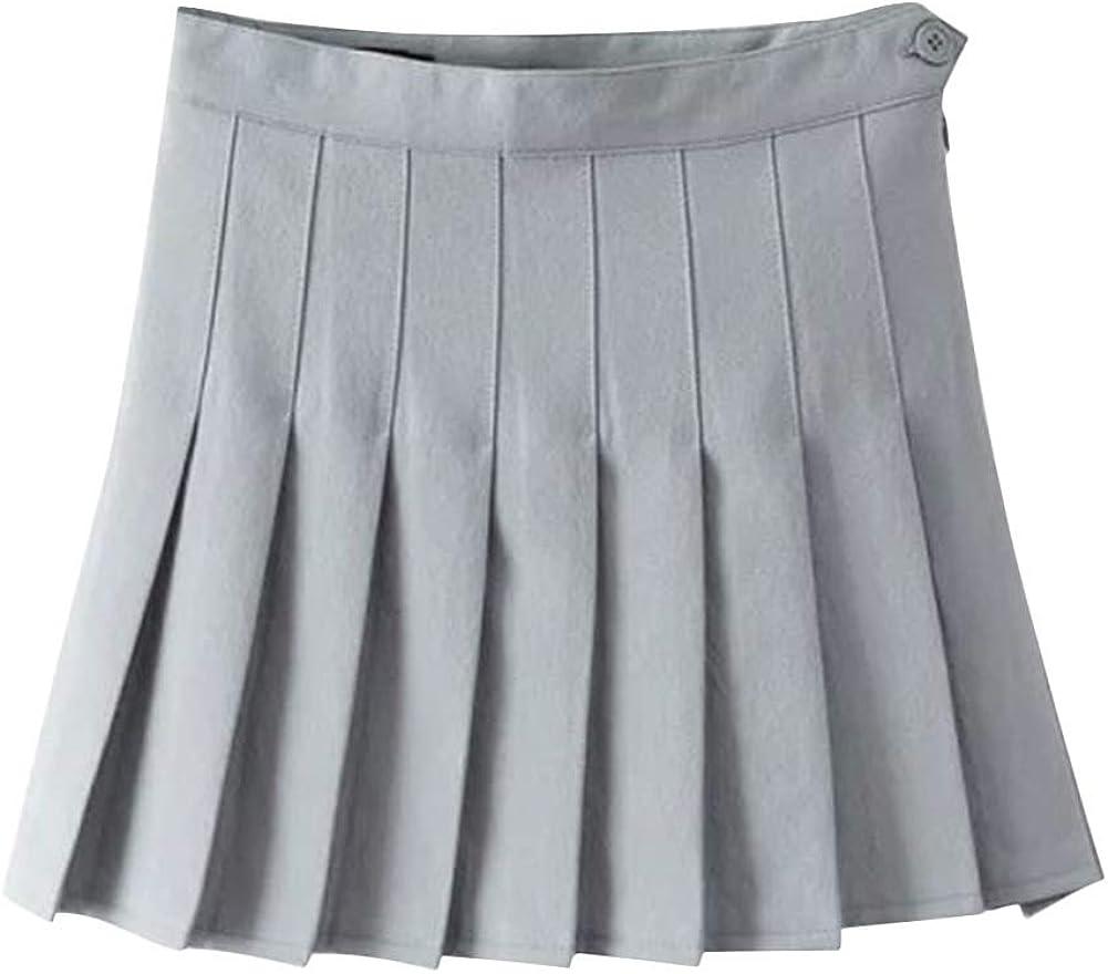 Aro Lora Womens Stylish Slim High Waist Pleated Tennis Mini Skirts