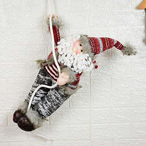 Christmas Wall Decoration Santa Claus Snowman Climbing Rope Toys Wall Hanging Dolls Christmas Decoration for Party Natal Decor ()
