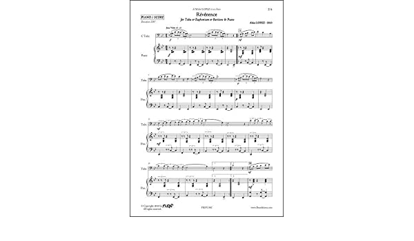 PARTITURA CLASICA - Révérence - A. LOPEZ - Tuba/Euphonium/Baritone ...