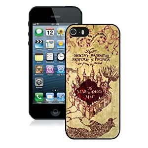Hot Sale iPhone 5 5S Screen Cover Case With Harry Potter Marauders Map Black iPhone 5 5S Case Unique And Beautiful Designed Phone Case