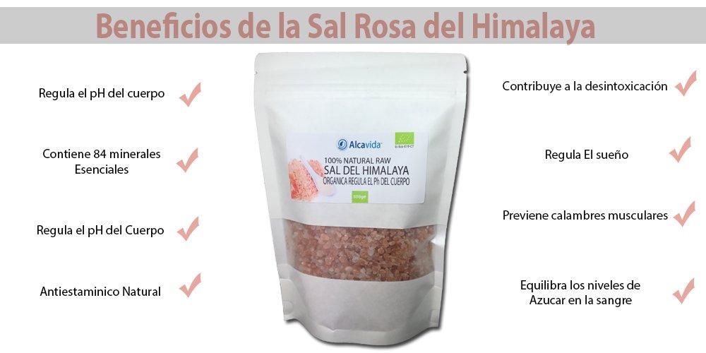 Sal del Himalaya Gruesa 100% natural y ecológica paquete de 500gr: Amazon.es: Alimentación y bebidas