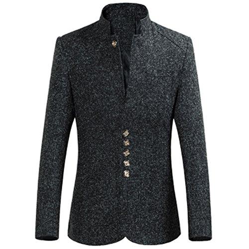Vazpue Suits 2016 New arrival autumn&winter printed Men's Blazer Casual Blazer For Men Blazer business suit Men size M-4XL BlackM