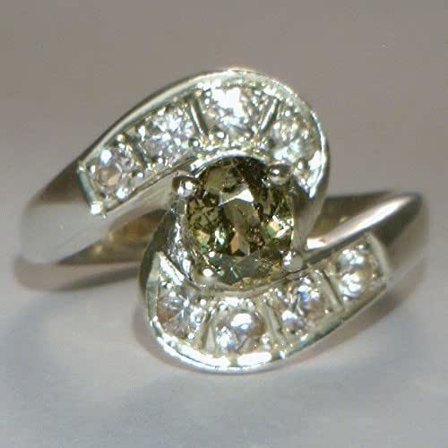 Amazon.com: Demantoid Garnet and White Sapphire Ladies