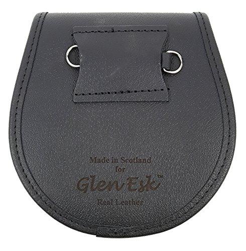 Rampant Lion Bovine Fur Premium Sporran-Made in Scotland (Celtic Embossed Sporran Suspender) by The Celtic Croft (Image #1)