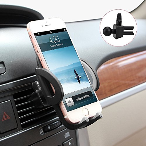 Beam-Electronics-Universal-Smartphones-Car-Air-Vent-Mount-Holder-Cradle-Compatible-with-iPhone-7-7-Plus-SE-6s-6-Plus-6-5s-5-4s-4-Samsung-Galaxy-S6-S5-S4-LG-Nexus-Sony-Nokia-and-More-Black