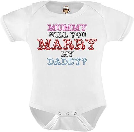 Hippowarehouse Mummy Will You Marry My Daddy Short Sleeve Boys Girls Baby Vest Bodysuit