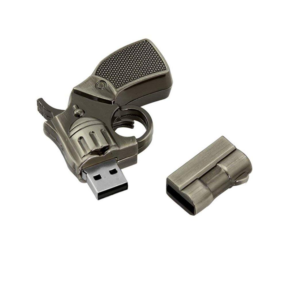 Amazon.com: 32 GB USB 2.0 Flash Drive Cool metal pistola ...