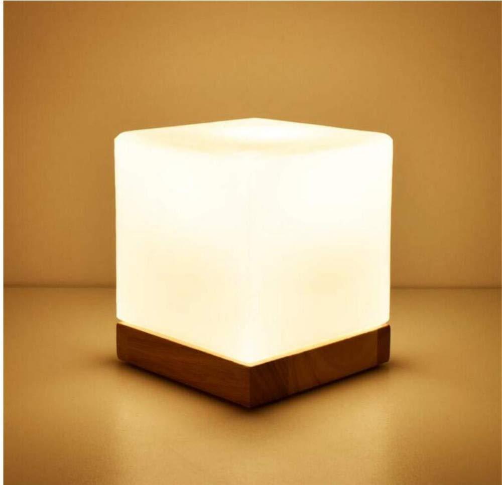 Wandleuchte bettlampe Kreative Einfache Moderne Glas Massivholz Warmes Licht Warm Hochzeit Dimmable Dekorative Nachttischlampe