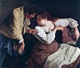 Art Oyster Orazio Gentileschi Two Women with a Mirror - 20.1'' x 25.1'' 100% Hand Painted Oil Painting Reproduction