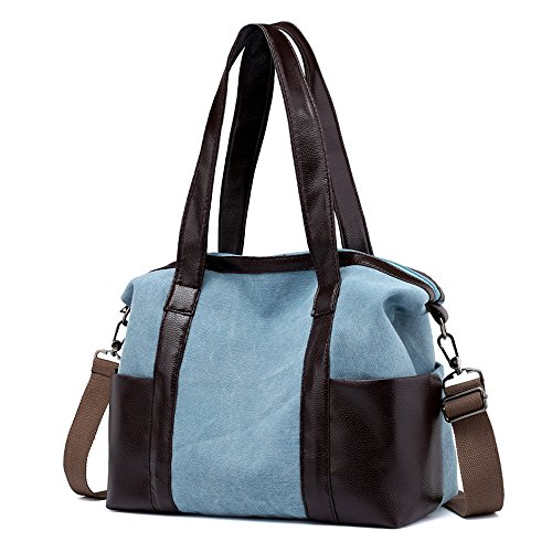 Shoulder Blue Bags Canvas Hobos Sky Totes Vintage Female Women Casual Single xTaqFwWAp