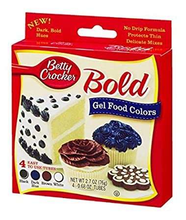 Amazon.com : Betty Crocker Bold Gel Food Colors - Black, Dk Blue ...