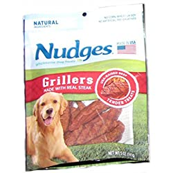 Nudges Grillers Dog treats with beef 5 ounce
