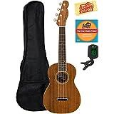 Fender Zuma Concert Ukulele Bundle with Gig Bag, Tuner, Austin Bazaar Instructional DVD, and Polishing Cloth