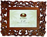 Hawaii Wood Carved Picture Frame 4'' X 6''