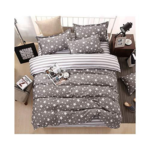 paasionous 4Pcs Flat Sheet Set Red Heart Bed Set Sheet Pillowcase&Duvet Cover Set Cute Bird Child Bedclothes Leaf Cover,Xingguangcanlan,Super King,Flat Bed Sheet
