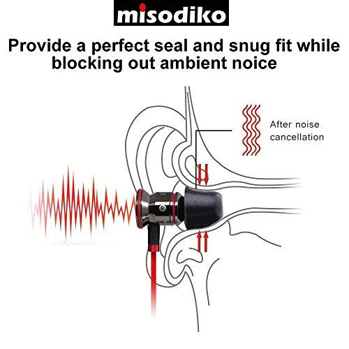 misodiko M410S Memory Foam Earbuds Tips for RHA MA390 MA600 MA650 MA750 T10i T20i/ Sennheiser Momentum In Ear, CX 3.00 5.00i/ Beoplay H3 H5 E4 E6/ SONY- Replacement Earphones Eartips (3-Pairs, Medium)