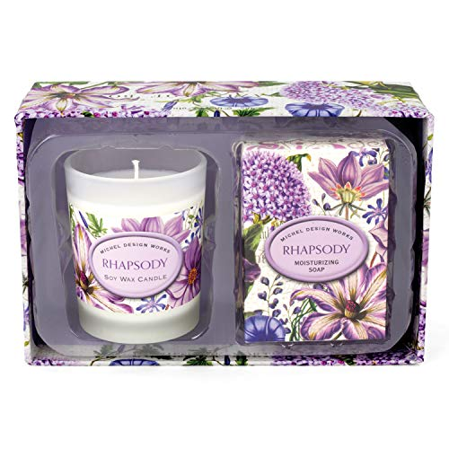 - Michel Design Works Candle and Soap Gift Set, Rhapsody