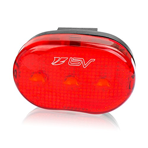 BV Bike Rear Light, Bicycle LED Taillight, Quick-Release, Easy to Install Cycling Safety Flashlight