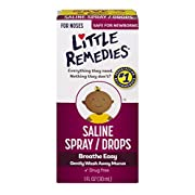 Little Remedies Saline Spray/Drops | 1 oz | Pack of 6 | For Noses to Breathe Easily | Gently Wash Away Mucus | Newborn Safe