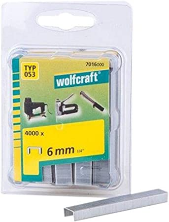 Wolfcraft 7012000 Agrafes large acier tremp/é type 050 10 mm Lot de 1000
