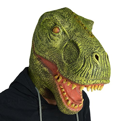 Amazlab Dinosaur Mask for Halloween Costume Party Decorations, Halloween Props, Halloween Supplies -