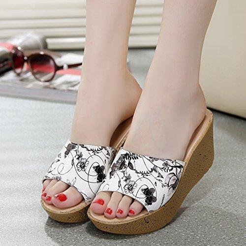 ZPPZZP Ms sandali pantofole a tacco alto 37EU spesso nero