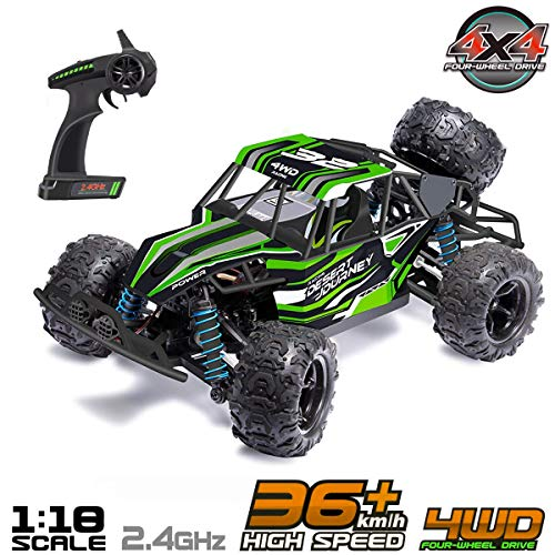 FREE TO FLY RC Cars Remote Control Car 2.4GHz High Speed Off Road Vehicles 1:22 Scale RTR Car Racing Games Kids Adult 2 Rechargeable Battery, Medium, Red