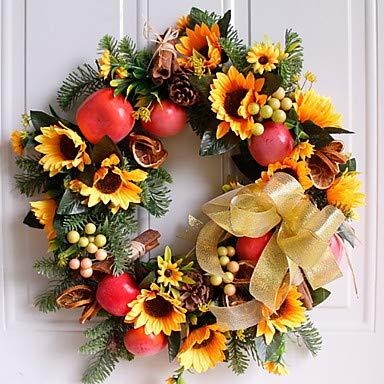Comfot Addobbo Decorazioni Natale Decorazioni Oggetti Decorativi Ghirlanda Rosso 1Pc