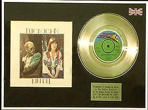 Elton John y Kiki Dee - 17,78 cm + cubierta disco de platino - don 't Go Breaking My Heart