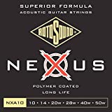 Rotosound NXA10 Nexus Coated Phoshor Broze Acoustic Guitar Strings (10 14 20 28 40 50)
